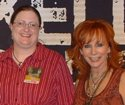 Meg with Miss Reba at 2 Worlds 2 Voices Tour stop in Minneapolis, October 2008.