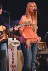 Performing at the Grand Ole Opry in 2005.