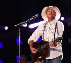 NASHVILLE, TN - JUNE 11:  Alan Jackson performs at LP Field during day 1 of the 2015 CMA Festival on June 11, 2015 in Nashville, Tennessee.  (Photo by C Flanigan/FilmMagic)